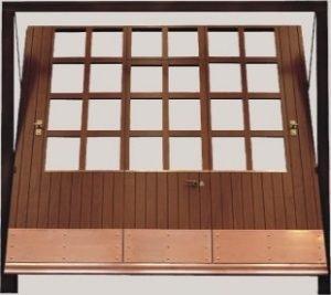 Basculante in legno con Finestrature