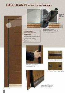 particolari tecnici basculante in legno